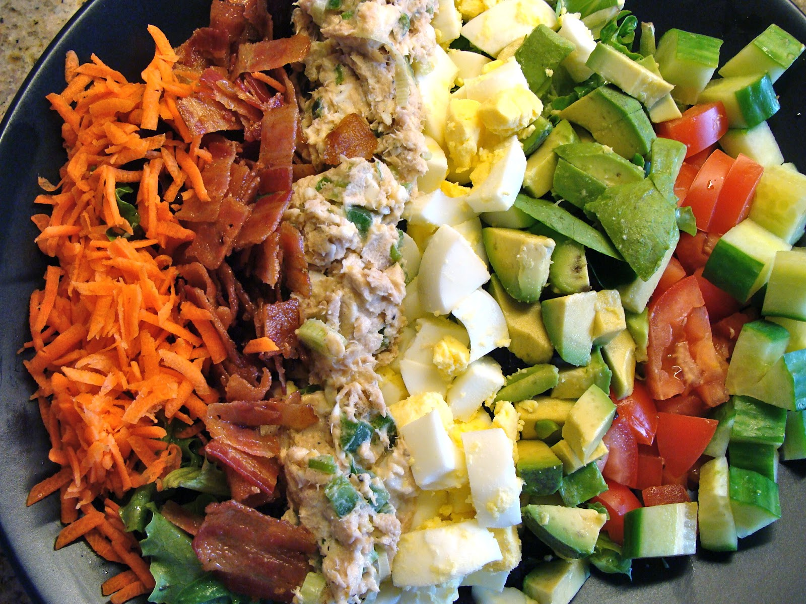 Jalapeno Tuna Cobb Salad | Rux Cooks