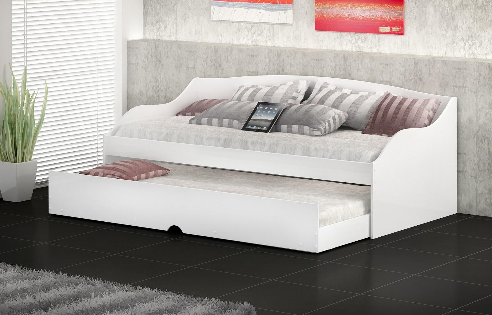 Temos camas bicamas colchoes e box bau bicama lais for Modelos de divan cama