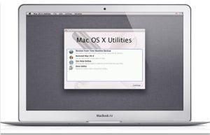 ripristino e reinstallazione del MAC