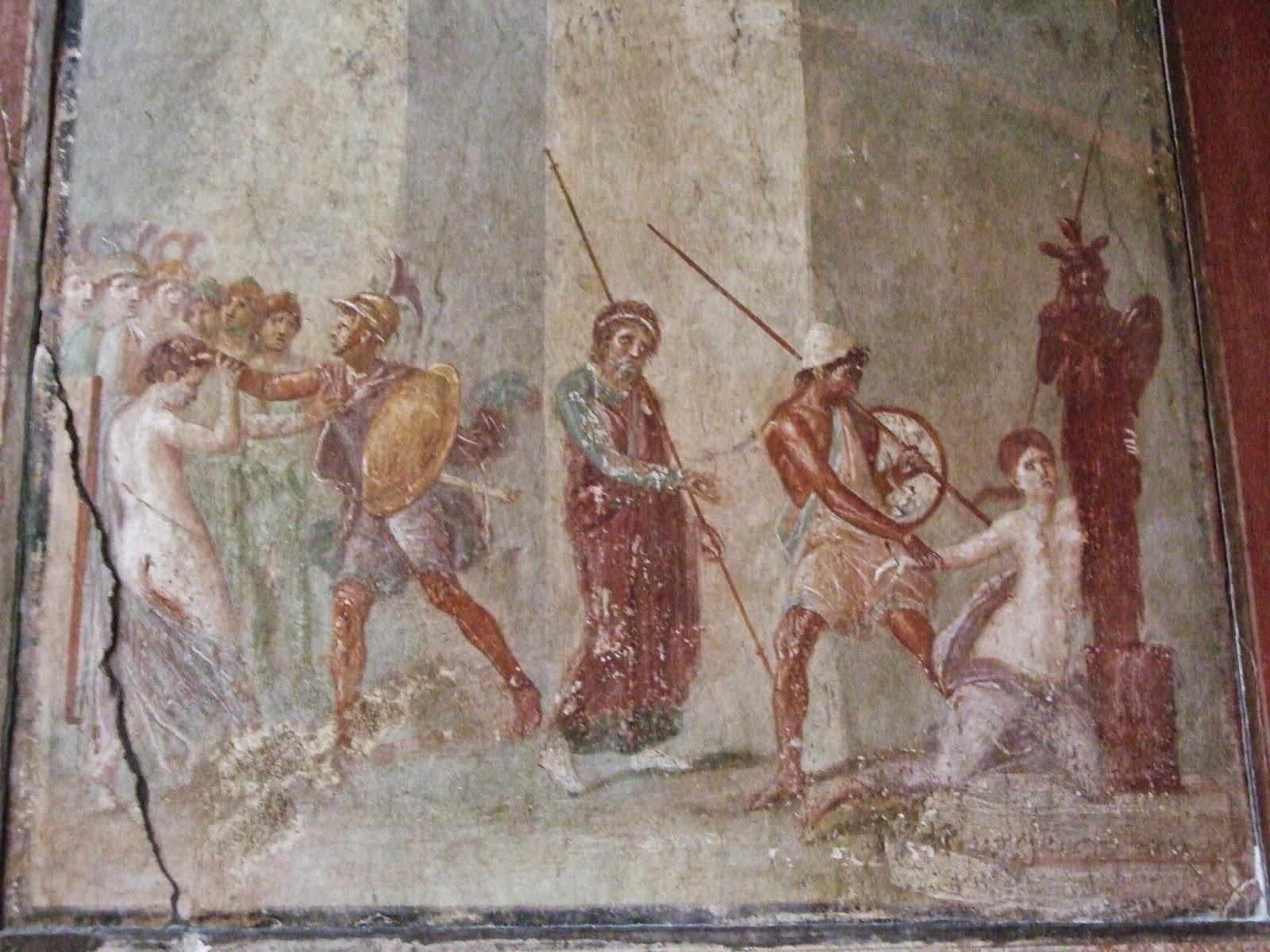 Pompei, Rapt de Cassandre, Maison de Ménandre