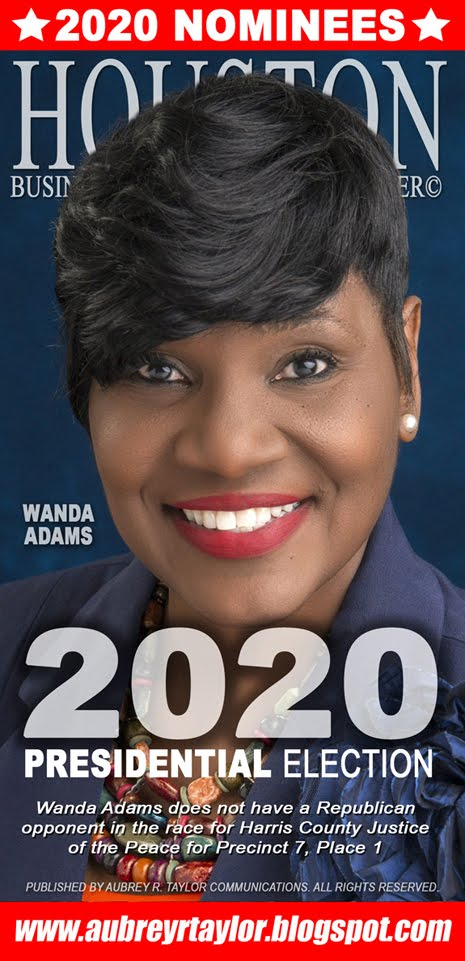 Wanda Adams Values Your Vote, Prayers, and Support on November 3, 2020 in Harris County, Texas