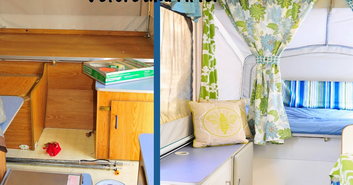 Sifting Through Life: Popup Tent Trailer Makeover and Breakfast Burritos