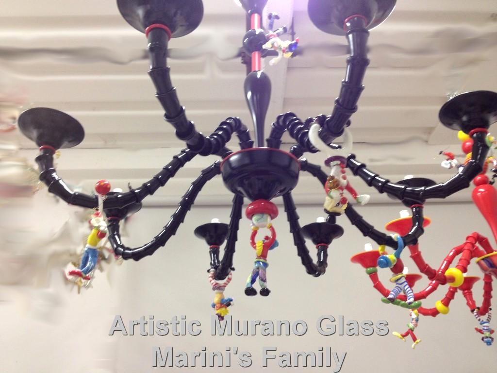Artistic Murano Glass Chandelier Murano Glass Quot Clown