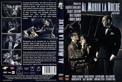 Carátula, cover, dvd: Al morir la noche | 1945 | Dead of night.