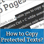 How can I copy Protected Text content of a website