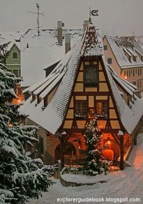 Kota tua Rothenburg ob der Tauber di Jerman