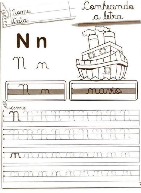Atividades com a Consoante N - 1001 Maneiras de Alfabetizar.