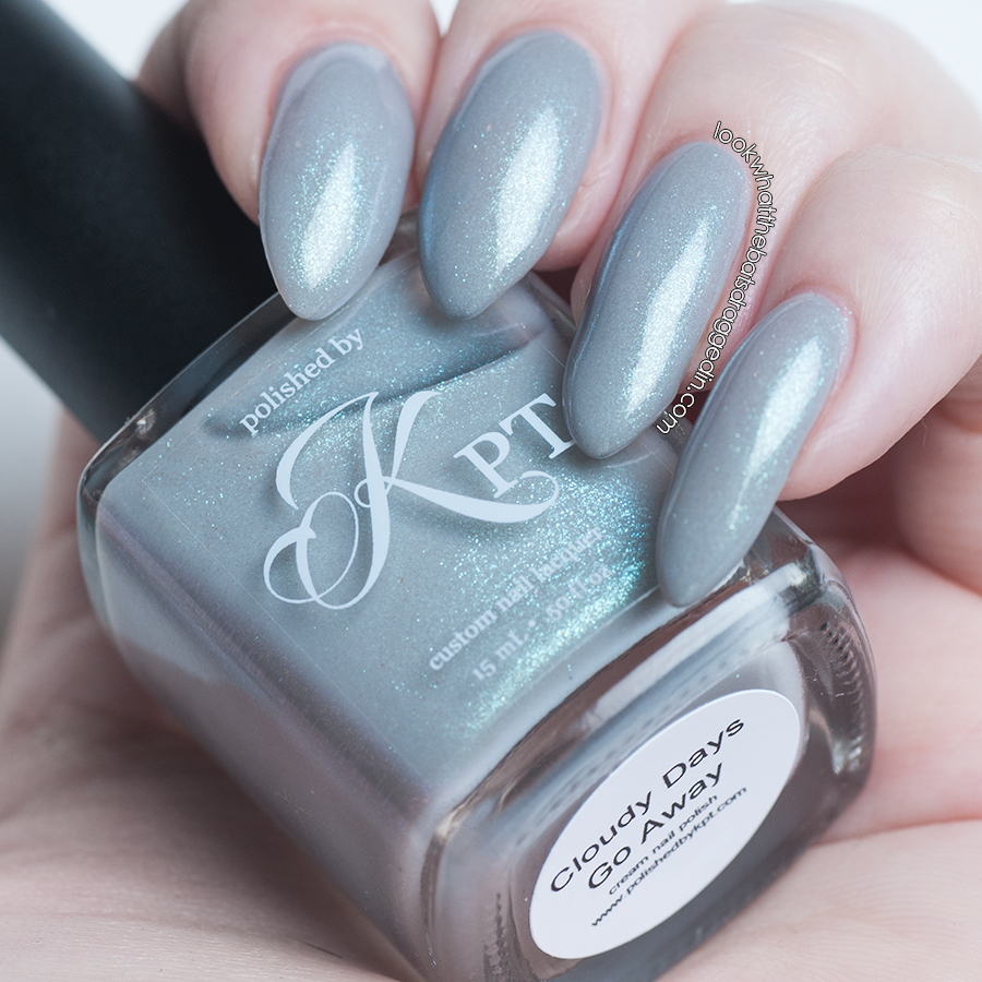 Polished by KPT Cloudy Days Go Away nail polish swatch