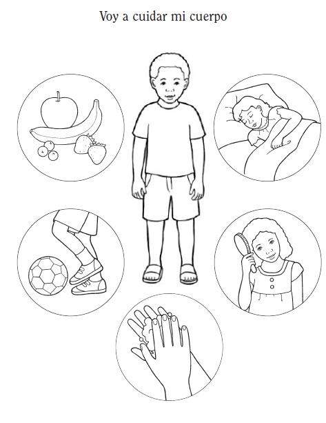 Como cuidar mi cuerpo dibujos para colorear - Imagui