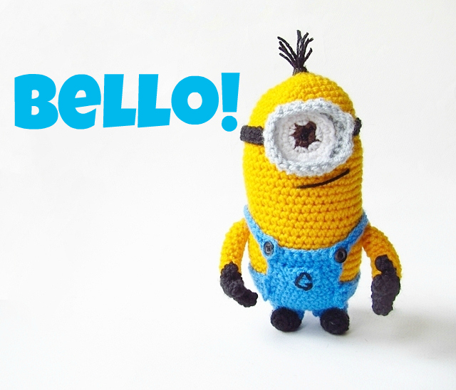 Free Crochet Pattern For Bob The Minion : Hopeful Honey Craft, Crochet, Create: Free Minion ...