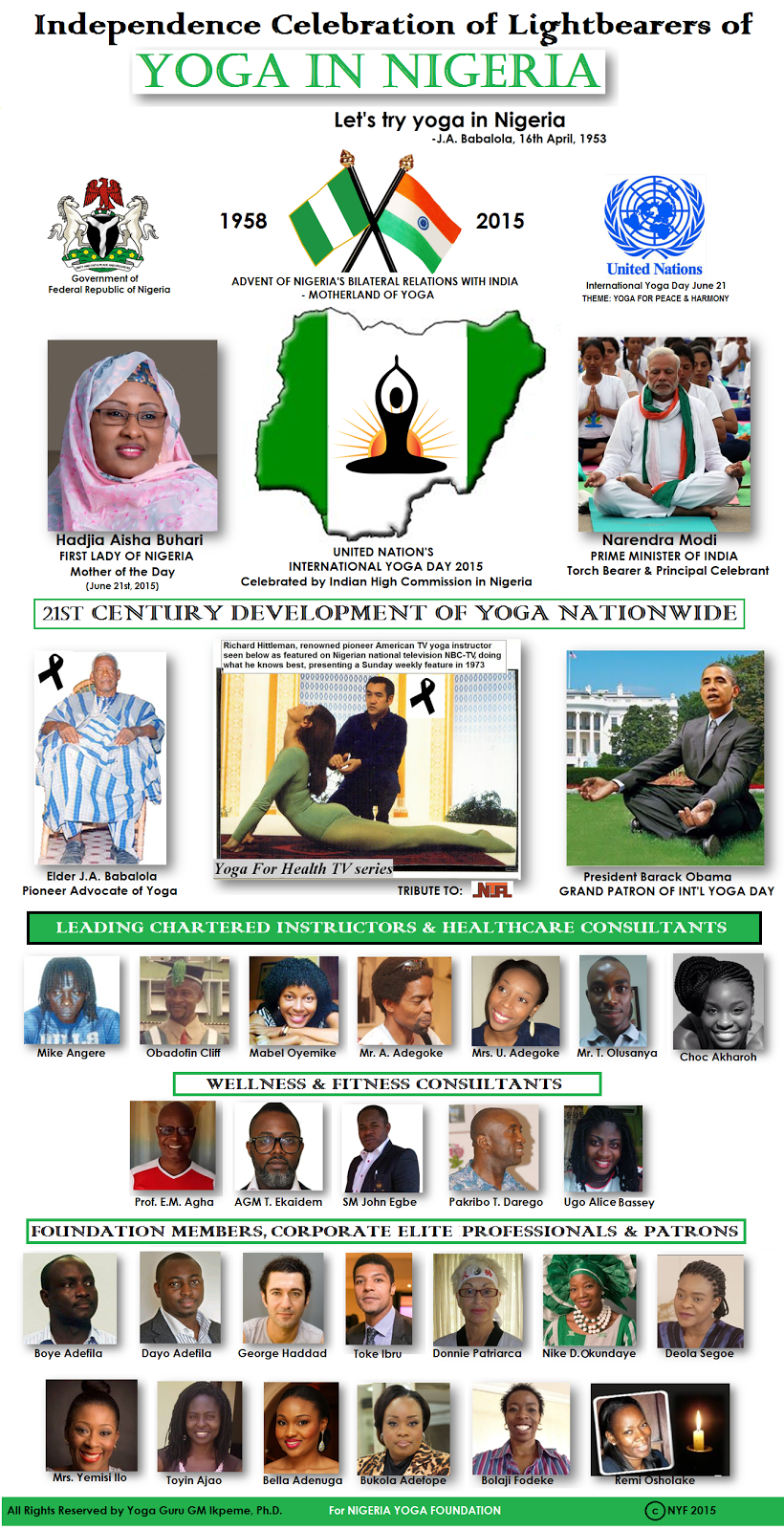 NATIONAL PRIDES  OF YOGA NIGERIA