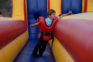 velcro reach in the jumpy slide