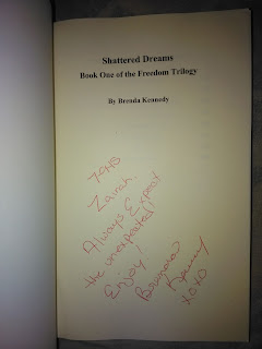 Signed by Brenda Kennedy