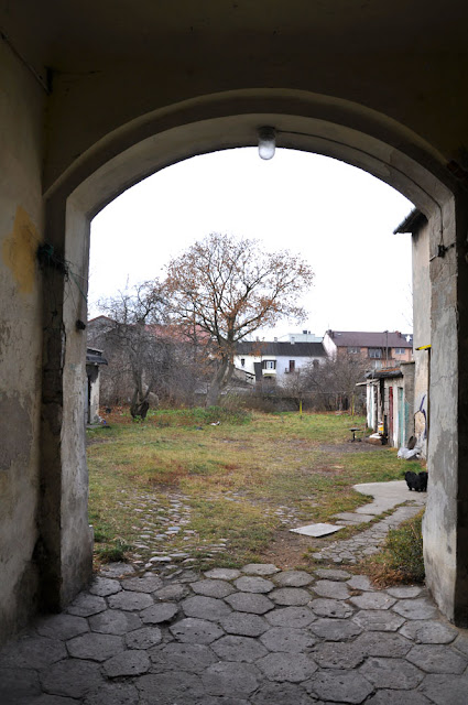 Końskie, budynek Łazienna 7 - widok na podwórze. Fot. KW.