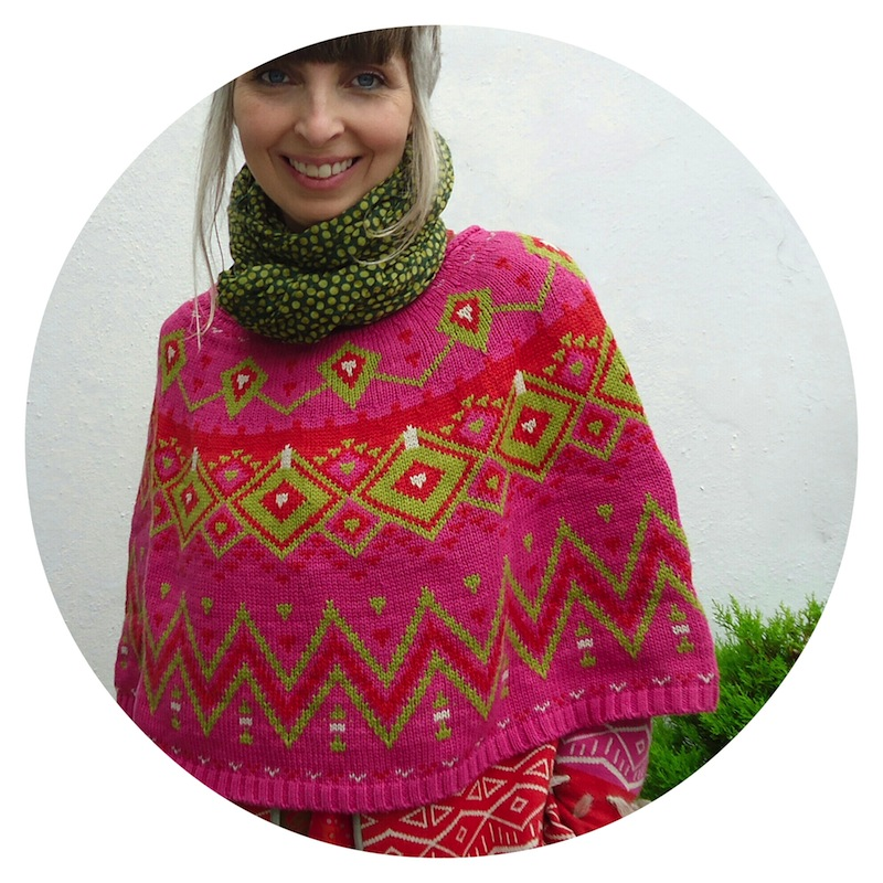Gudrun Sjödén Winter 2014 collection: shawl, poncho and cardigan