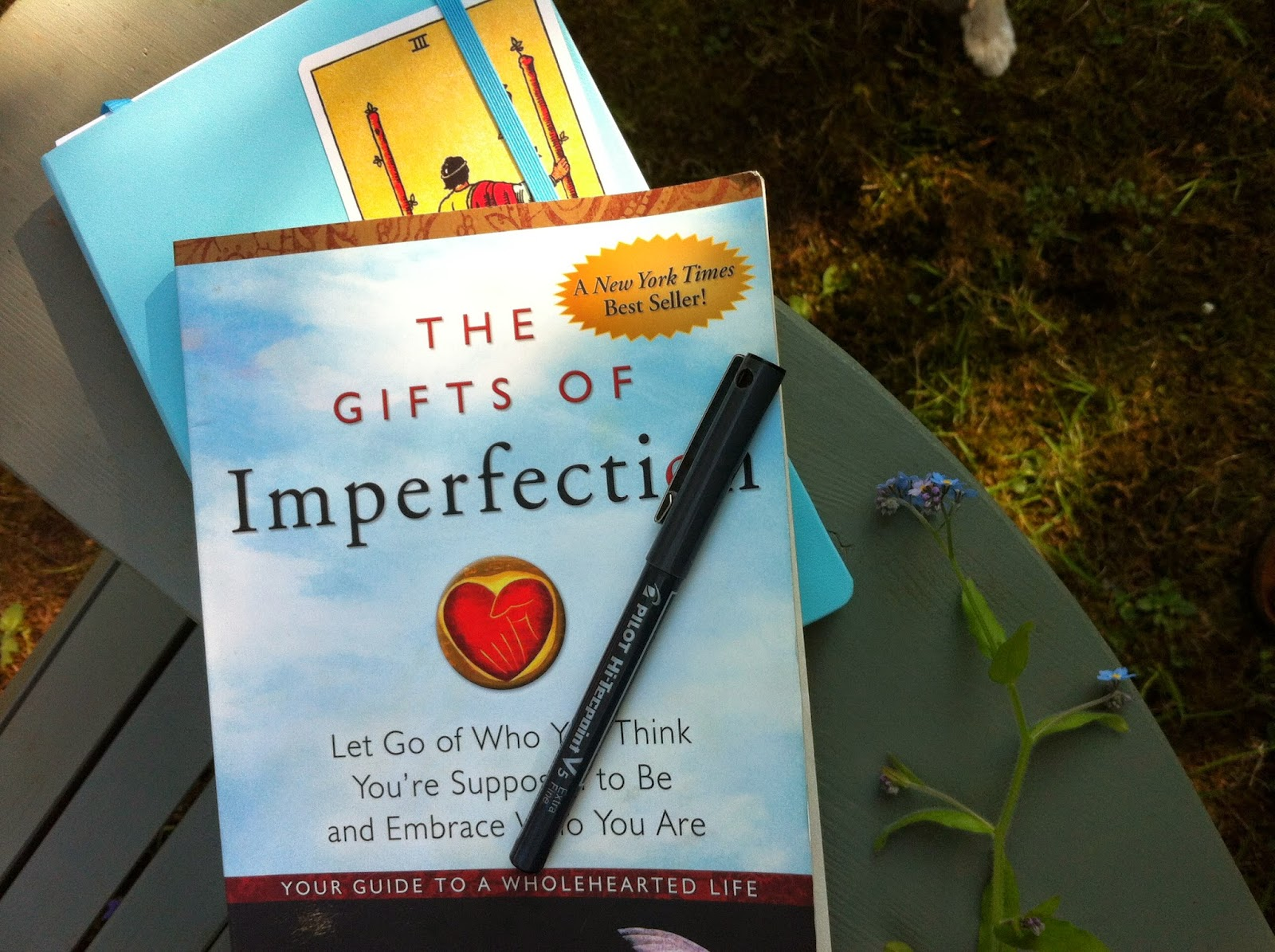 Brené Brown and me in the garden