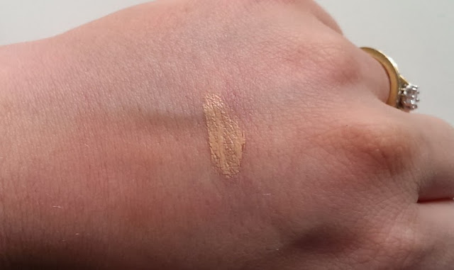 A swatch on the back of my hand of the Dior BB eye cream
