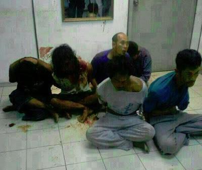 Gambar penceroboh Sultan Sulu yang telah ditangkap oleh pihak Polis Diraja Malaysia