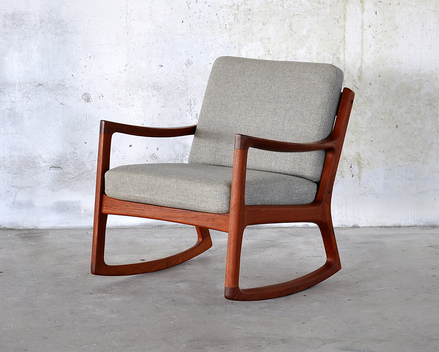 Select modern ole wanscher teak rocking chair for Rocking chair