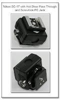 Nikon SC-17 with Dedicated Hot Shoe Pass Through and Screwlock PC Jack