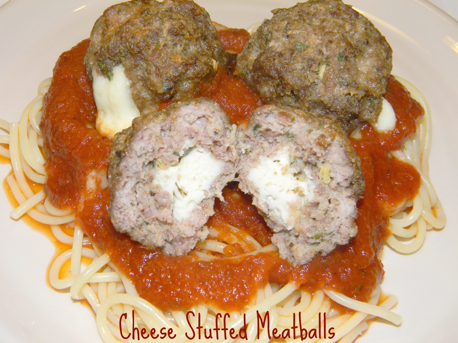 Crazy for Cookies and more: Cheese Stuffed Meatballs