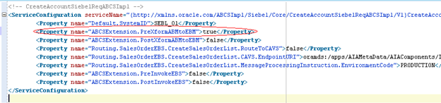 Change Service Configuration Properties