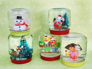 Baby Food Jar Snow Globes Repurpose baby ...