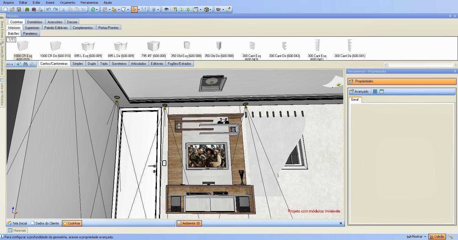 Imagens de um home Criado no software da Procad Promob Projeto  #AD641E 1597 837