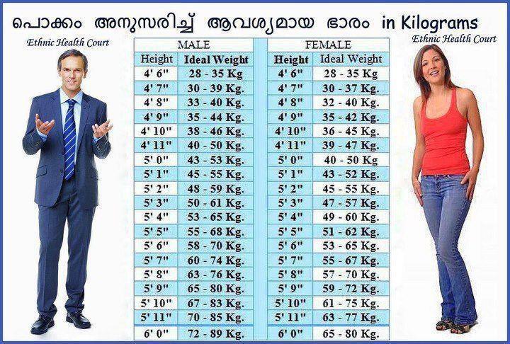 Hight And Weight Chart Kuruvady