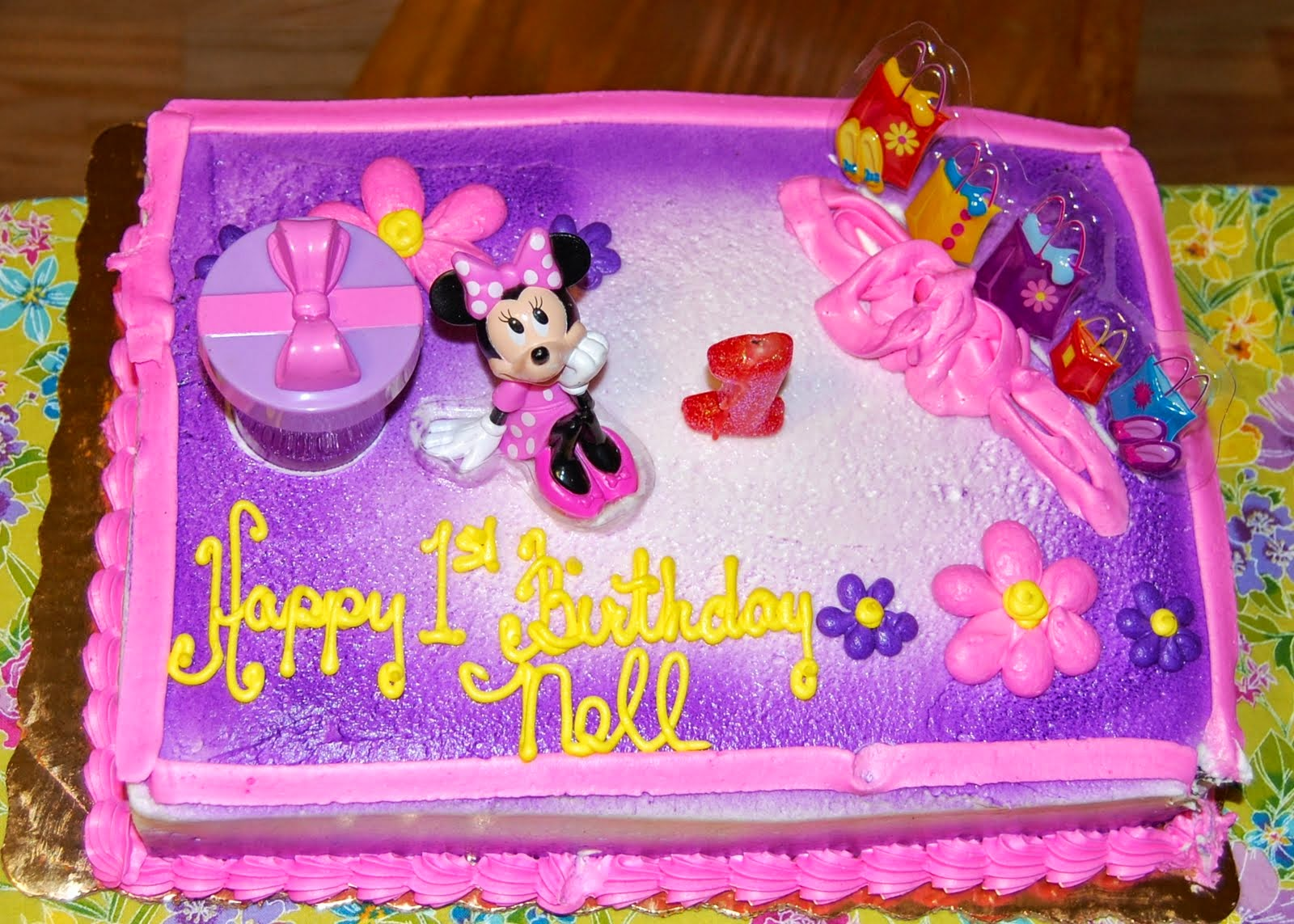 Kroger Minnie Mouse Birthday Cakes Photo Album Minamiichiba