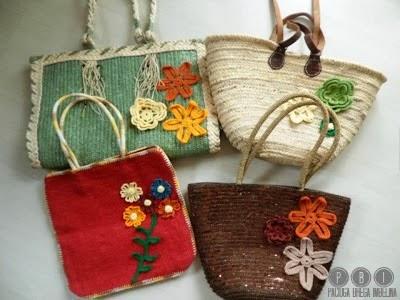 Borse Da Spiaggia Con Fiori A Crochet Paciuga Brega E Imbelina