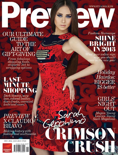 Sarah Geronimo Covers Preview Magazine December 2012-January 2013 Issue
