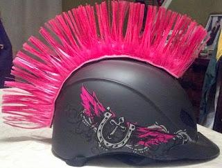 pink helmet mohawk