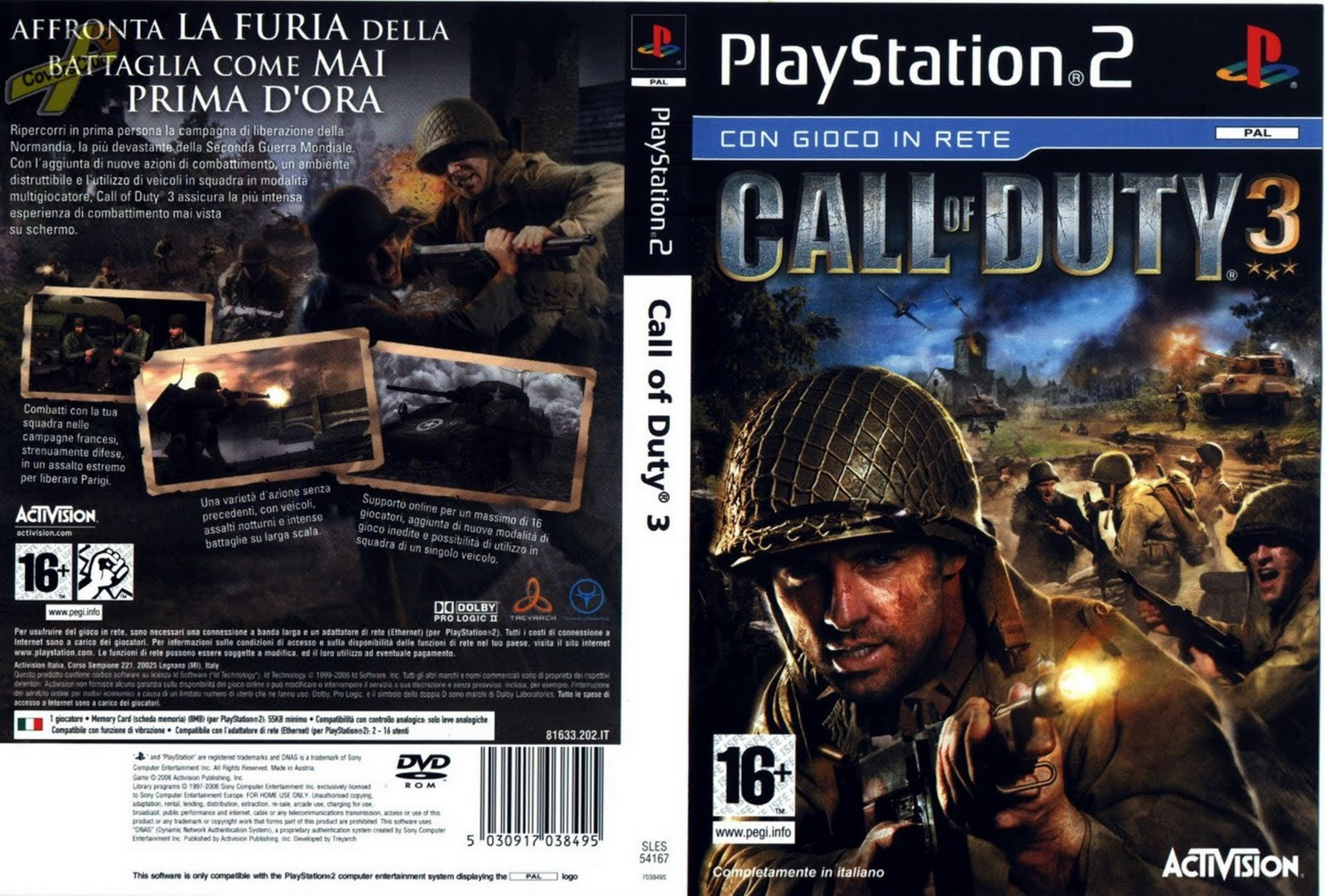 call of duty 3 playstation 2ps2