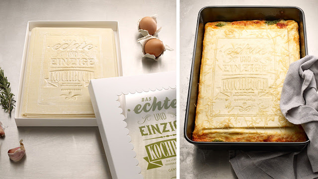 edible cookbook, lasagne