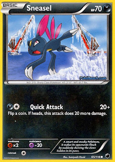 Sneasel Plasma Freeze Pokemon Card