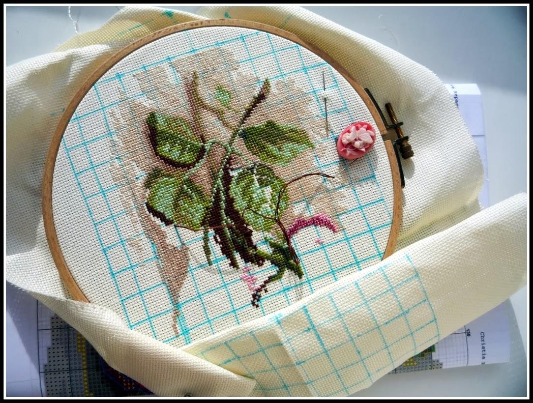 Вышивка срезанные розы дименшенс 79