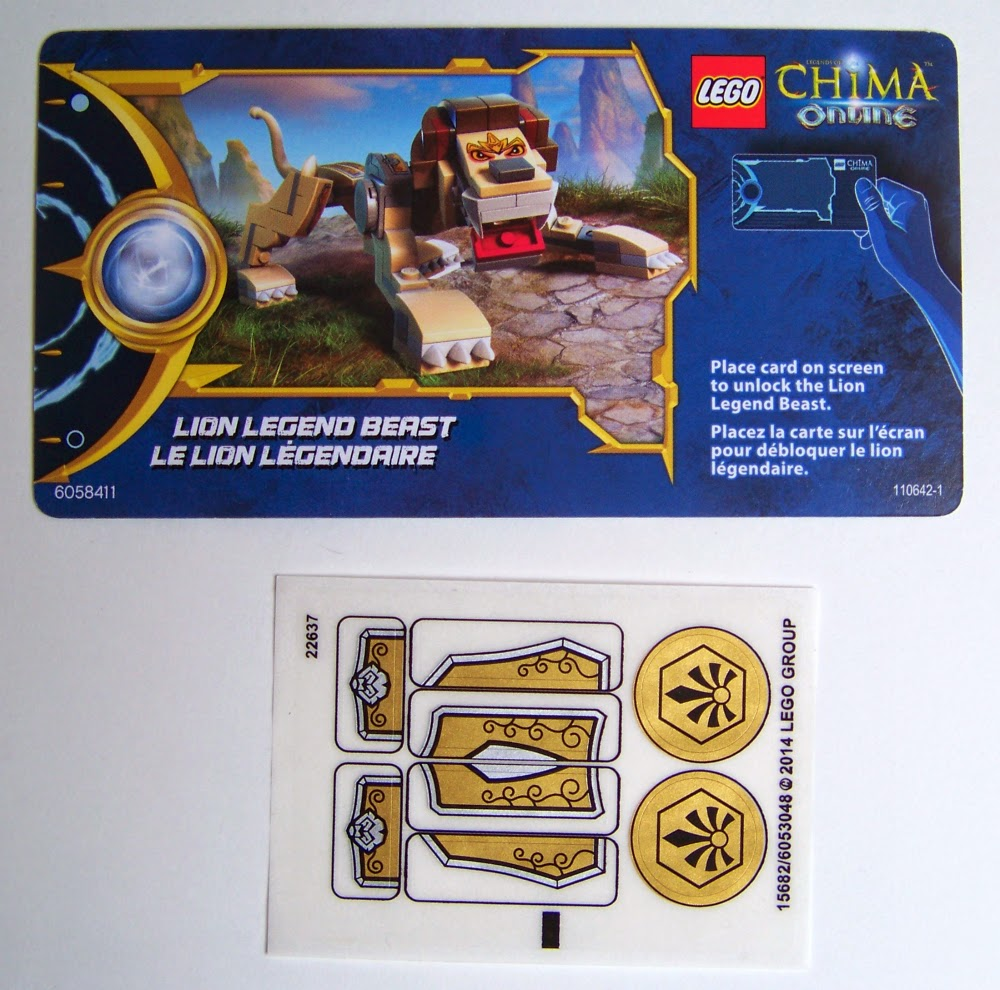 Chima Legend Beast 70123 sticker sheet