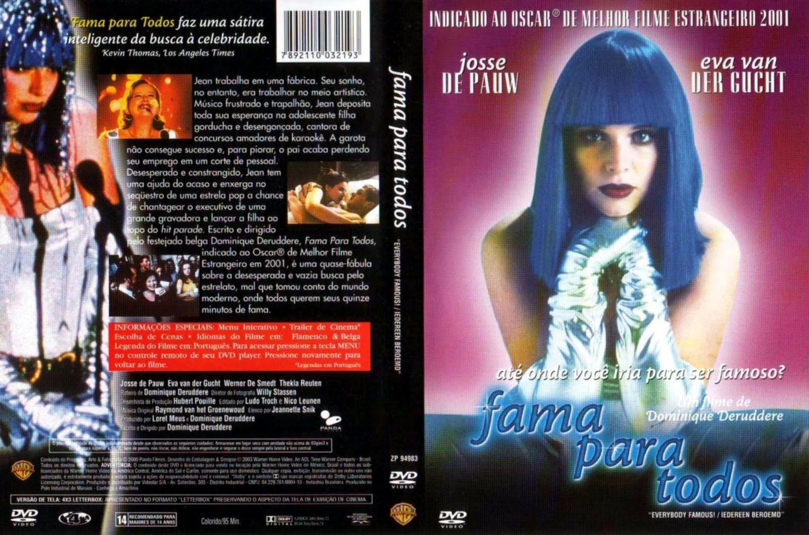 Capa DVD Fama Para Todos