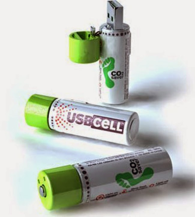 USB rechargeable batteries.
