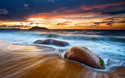 Atardecer en la playa - Recuerdos del ocaso
