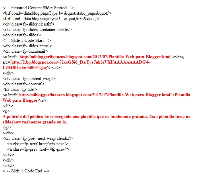 Plantillas web para blogger