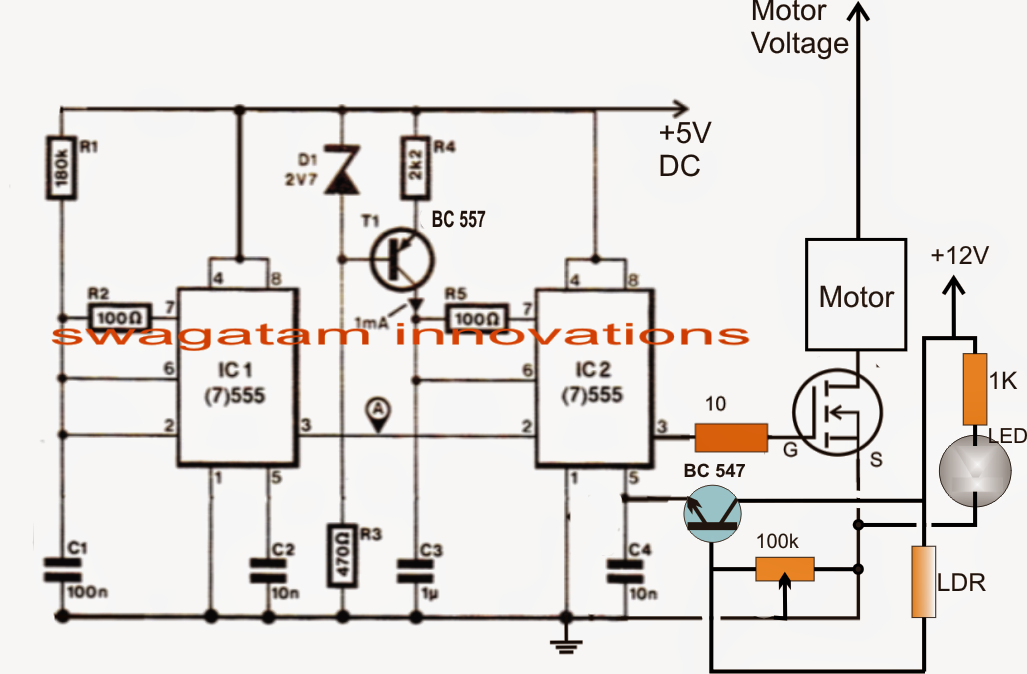 pwm wiring diagram electronic circuit projects referring to the above circuit diagram we can assess the circuit operation the