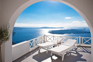 greek island Santorini perfect hotel view