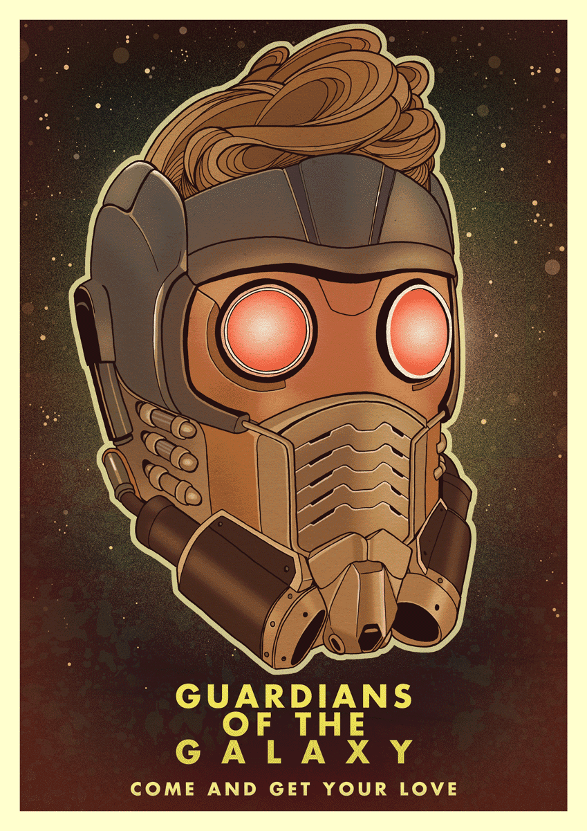Star-Lord Illustration Guardians of the Galaxy space