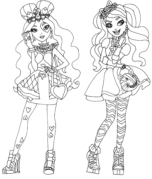 Lizzie Ever After High Coloring Pages