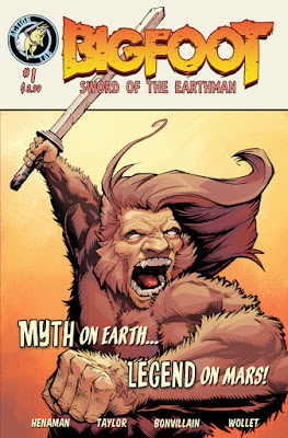 bigfoot sword of the earthman bigfoot comic book diamond previews issue one bigfoot graphic novel barbarian