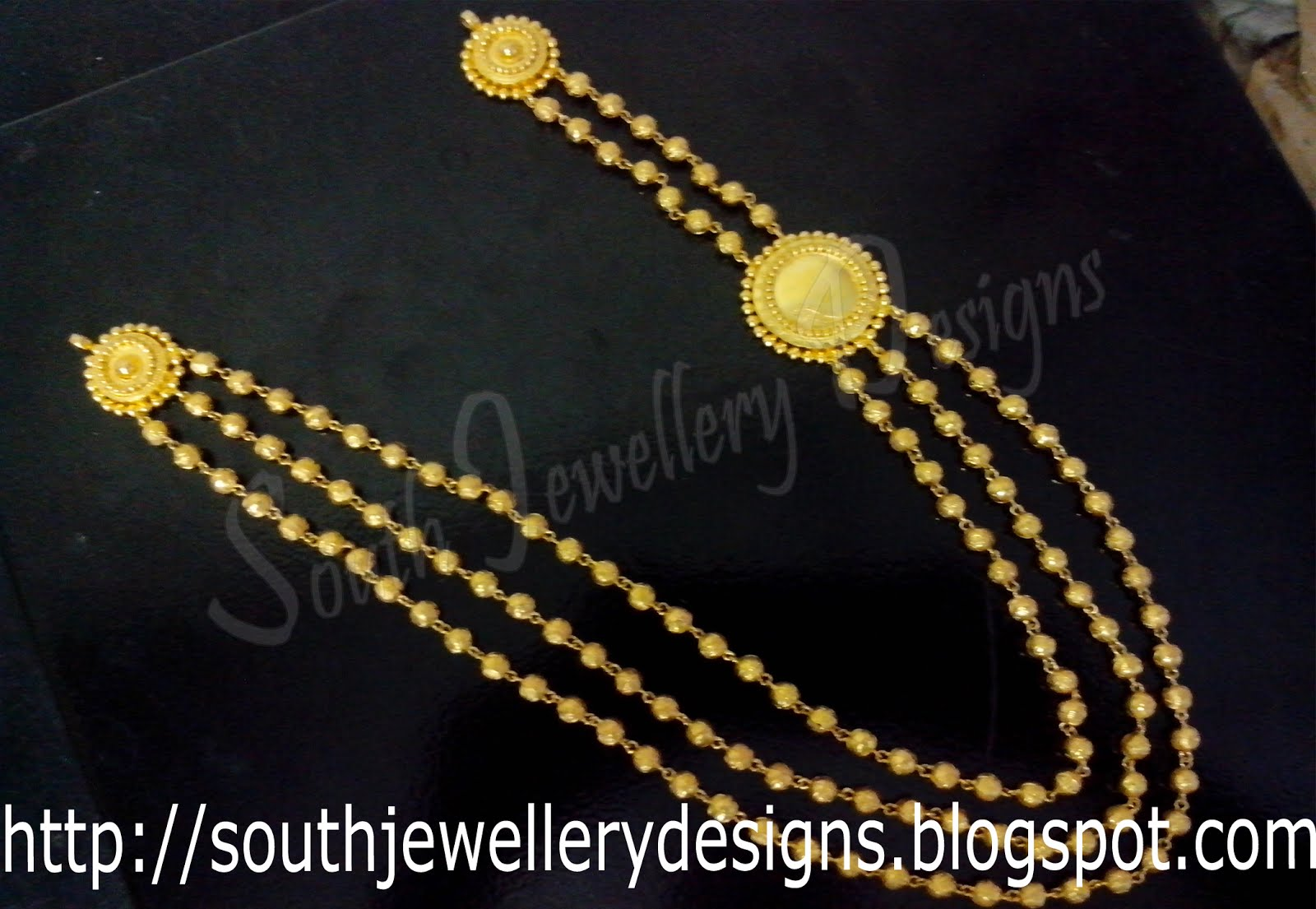 South Jewellery Designs Indian Traditional Layer Chains