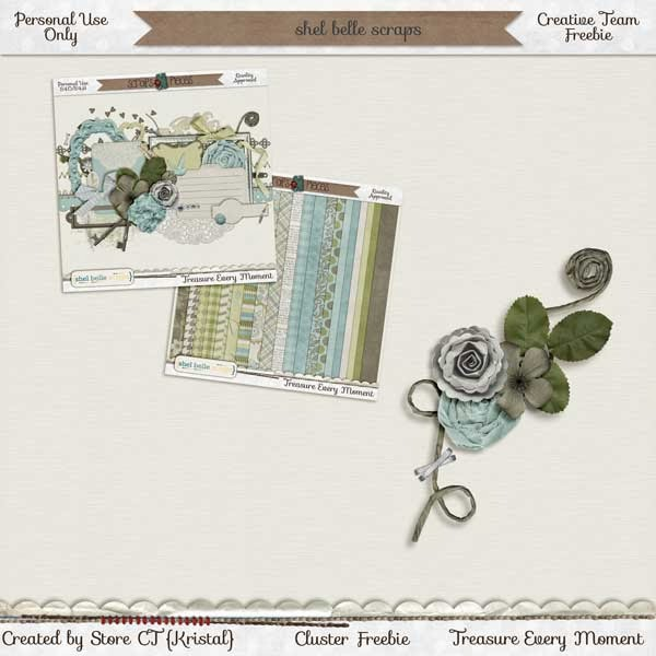 Treasure Every Moment by Shel Belle Scraps and a Freebie!
