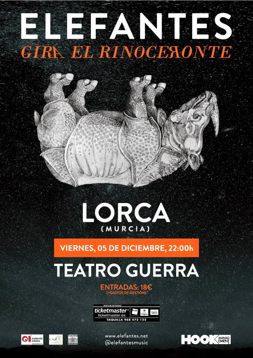 Elefantes en Concierto en Lorca el 5 de Diciembre